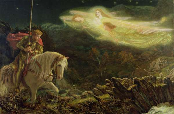 Sir Galahad - the Quest of the Holy Grail, 1870 (oil on canvas)
