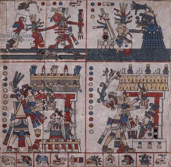 p.34 from the 'Codex Fejérváry-Mayer' (vellum)