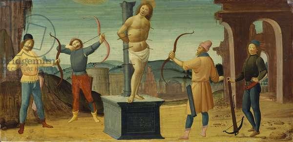 The martyrdom of St. Sebastian, 1496-1500 (tempera on panel)
