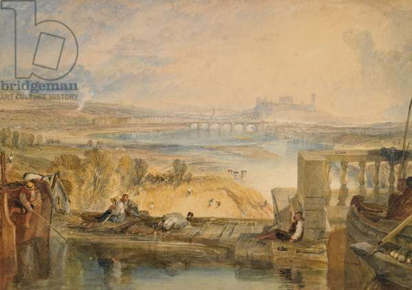 Lancaster from the Aqueduct, c.1825 (w/c & gum arabic on paper)