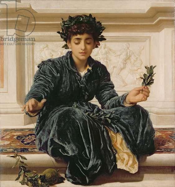 Weaving the Wreath, 1872 (oil on canvas)