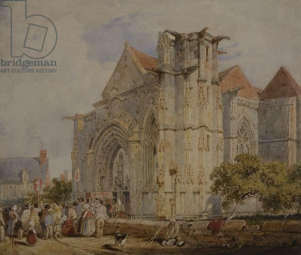 St Sauveur, Dives, Normandy, probably 1821-24 (pencil & w/c on paper)