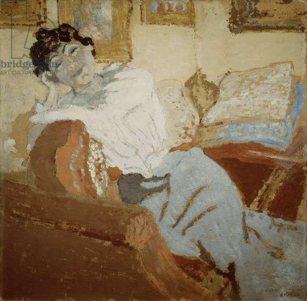 Madame Hessel on the Sofa, 1900 (oil on cardboard)