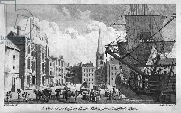 A View of the Custom House, 1750 (engraving)