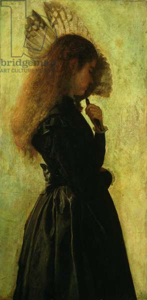Girl with Fan, 1875/1882 (oil on canvas)