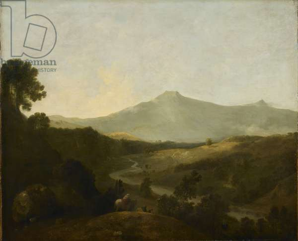 Valley of the Mawddach and Cader Idris, 1774 (oil on canvas)