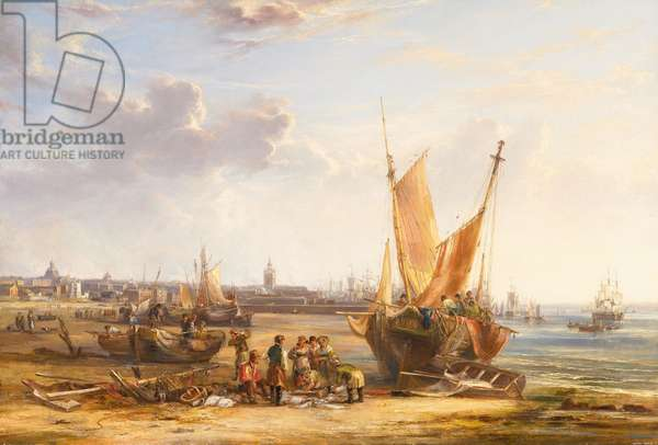 Liverpool From Bootle Sands, 1828 (oil on canvas)