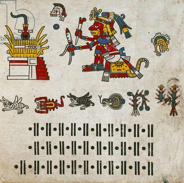 p.5 from the 'Codex Fejérváry-Mayer' (vellum)