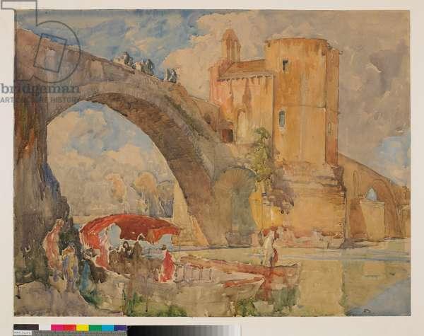 Pont St Benezet Avignon (w/c on paper)