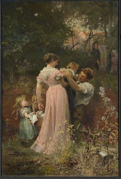 My Lady is a Widow And Childless, 1874 (oil on canvas)