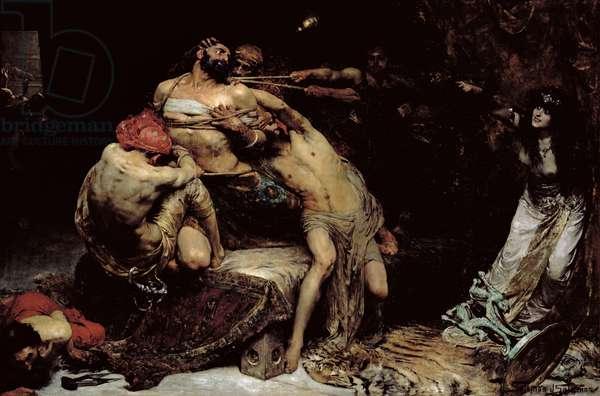 Samson (oil on canvas) (post restoration)