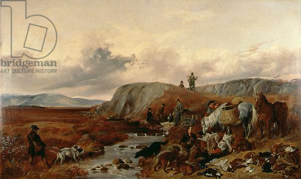Shooting Party in the Highlands, Halting for Lunch, 1840 (oil on canvas)