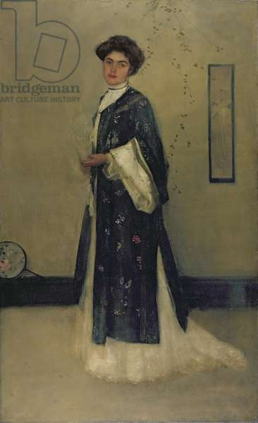 Lady with Japanese Gown (oil on canvas)