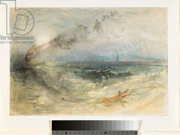 A Steamer off Ostend, c.1840-41 (w/c over pencil on paper)