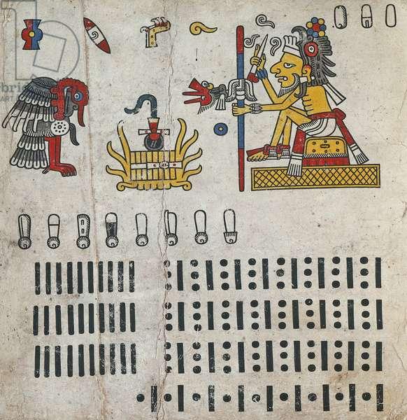 p.6 from the 'Codex Fejérváry-Mayer' (vellum)