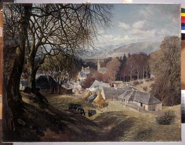 Glamis Village, 1939 (oil on canvas)