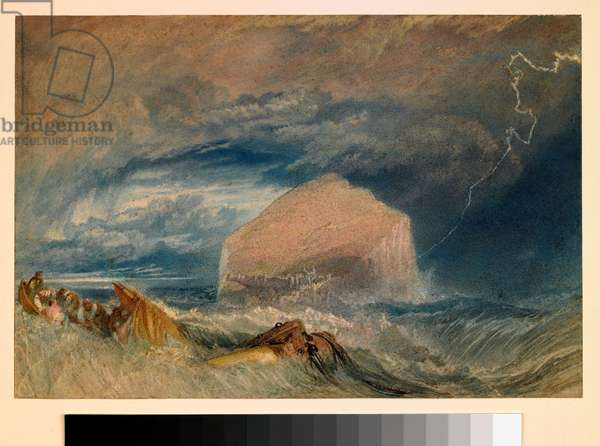The Bass Rock, c.1824 (w/c over pencil on paper)