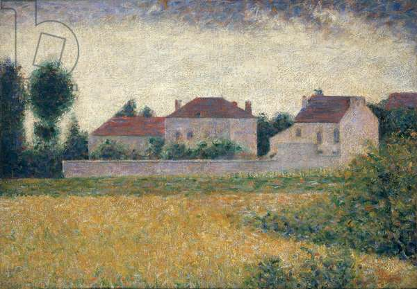 Maisons Blanches (oil on canvas)