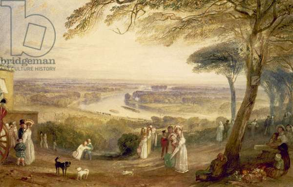 Richmond Terrace, Surrey, Summer, 1836 (w/c on paper)