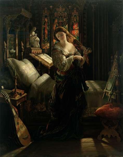 Madeline after Prayer, 1868 (oil on canvas)