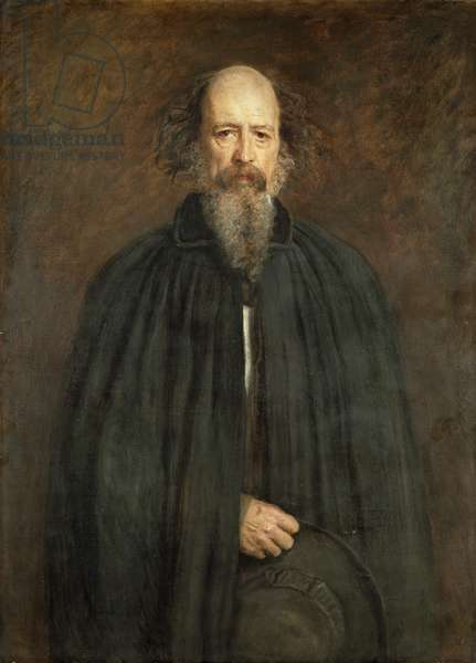 Alfred, Lord Tennyson (1809-92) 1881 (oil on canvas)