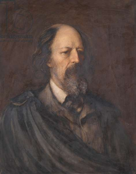 Alfred Tennyson,  Poet Laureate, 1879 (w/c on paper)
