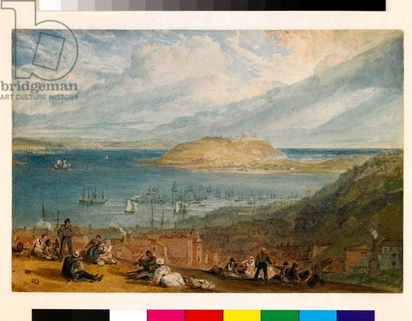 Falmouth Harbour, Cornwall, c.1812-14 (w/c with gouache on paper)
