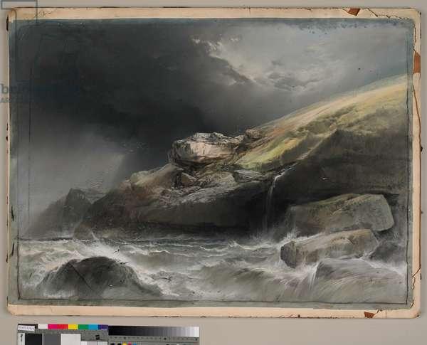 Coast Landscape (w/c on paper)