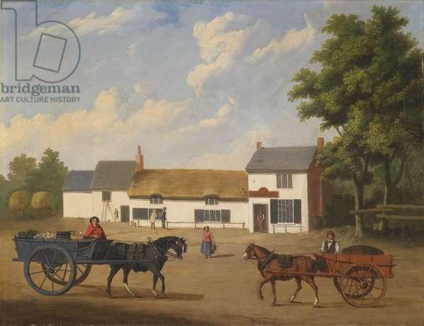 Old Plough Inn Walton, 1800-46 (oil on canvas)