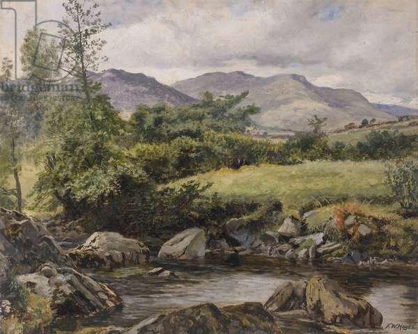 On the Colwyn, Beddgelert, 1881 (oil on canvas)