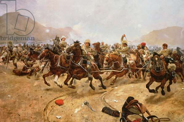 Maiwand 1880: Saving the Guns, 1882 (oil on canvas)