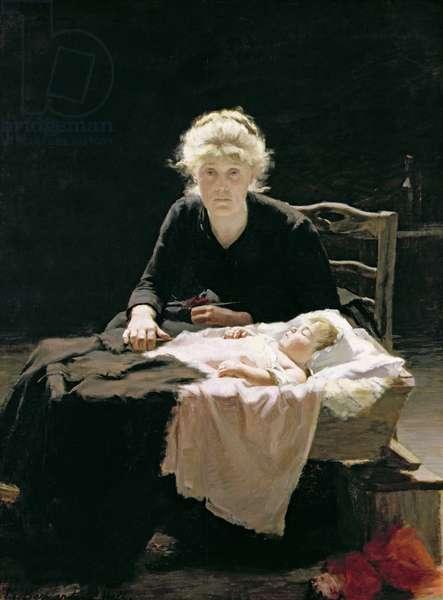 Fantine, 1886 (oil on canvas)