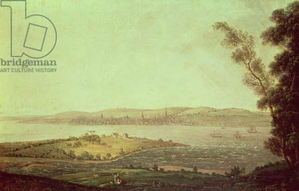 Liverpool from Tranmere Pool, c.1770-90 (oil on canvas)