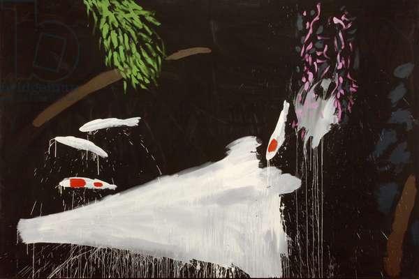 Oriental Garden, Kyoto, 1982 (acrylic on canvas)