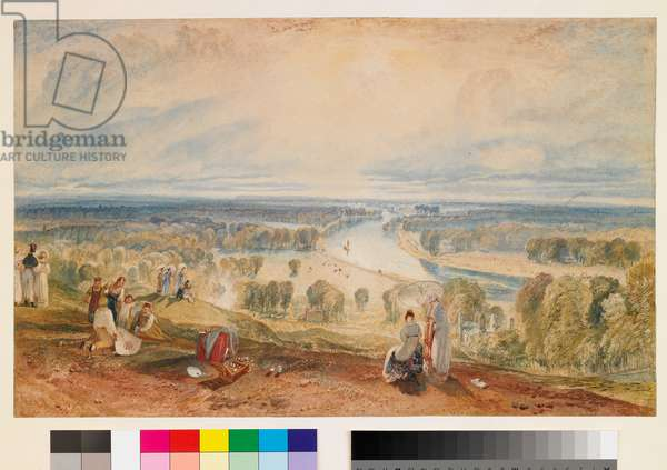 Richmond Hill, c.1825 (w/c over pencil with gouache on paper)
