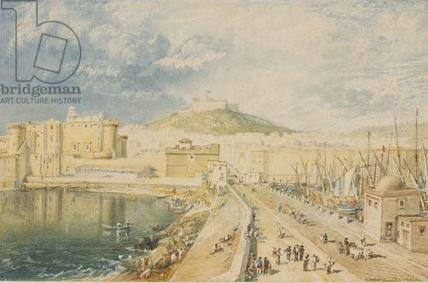 Old Harbour, Naples, 1818 (w/c on paper)