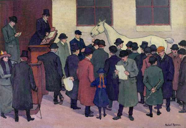 Under the Hammer, 1914 (oil on canvas)