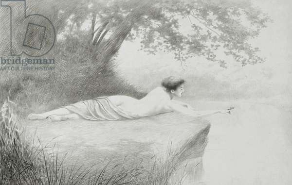 An Idyll, 1897 (silverpoint & pencil on board)