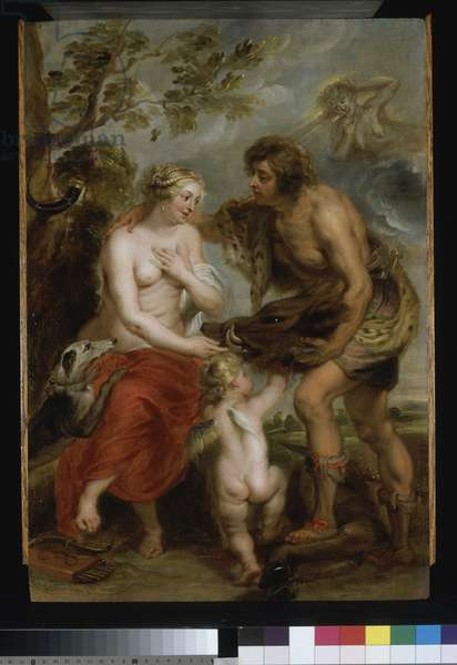 Atalanta and Meleager, c.1635-37 (oil on wood)