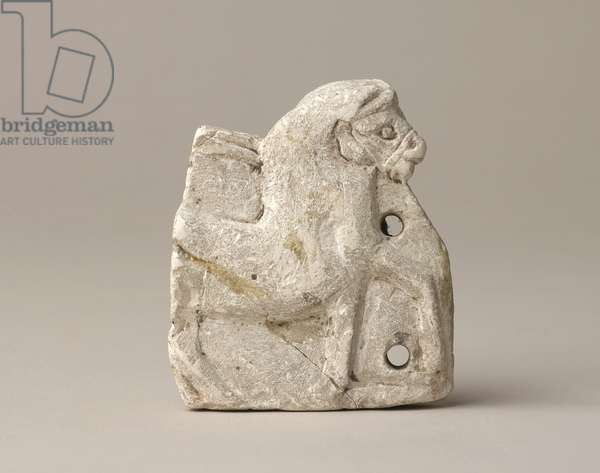 Horse and chariot figure, possibly from Tell el-Amarma, New Kingdom, 1353-1336 BC (limestone)