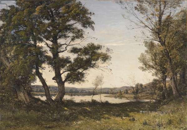 Bord de Loing, 1891 (oil on canvas)