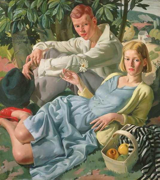 Amity, 1933 (oil on canvas)