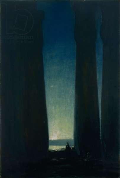 Nightfall, Luxor, c.1910 (oil on canvas)