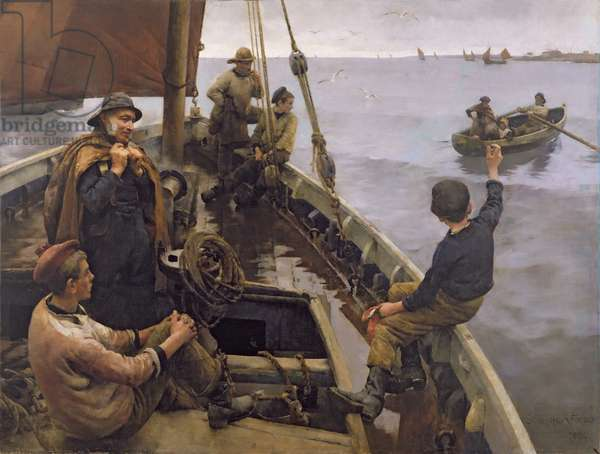 Off to the Fishing Ground, 1886 (oil on canvas)