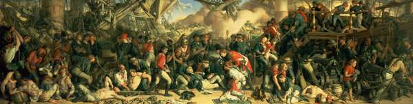 The Death of Nelson, 1859-64 (oil on canvas)