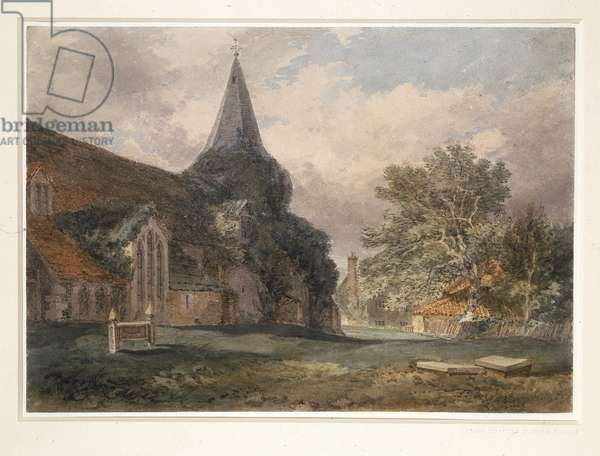 Great Bookham Church, 1793 (w/c on paper)