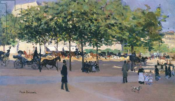Promenade on a Sunday afternoon, Paris