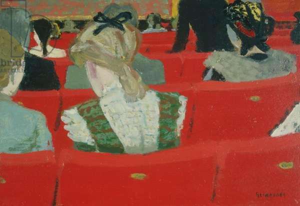 At the Theatre, c.1930 (oil on board)