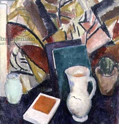 Still Life with Pitcher and Books