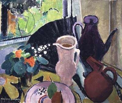 Still Life with Jugs and Black Fan